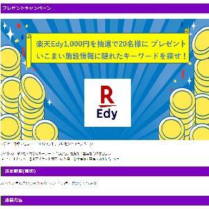 電子マネーEdy1,000円分