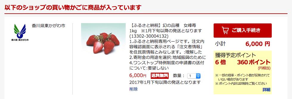 幻の品種女峰苺1kg